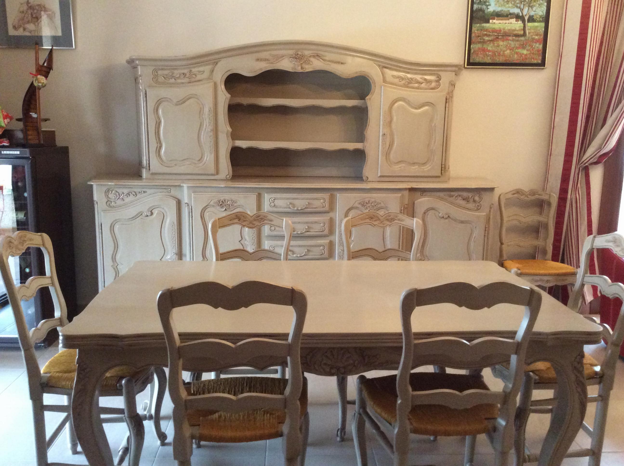 r alisations salle manger louis xv en noyer de france berre l 39 tang. Black Bedroom Furniture Sets. Home Design Ideas