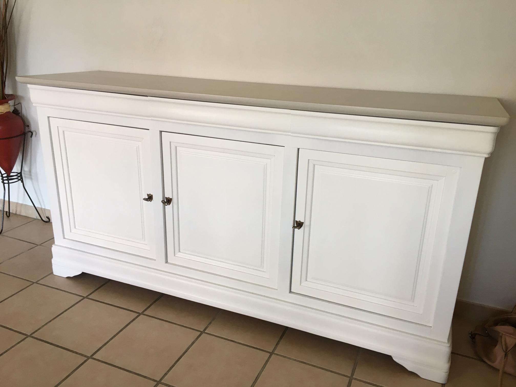 R alisations enfilade louis philippe relook e en blanc - Repeindre meuble louis philippe ...